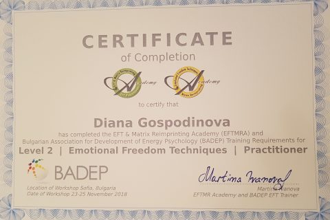 Emotional Freedom Techniques Practitioner